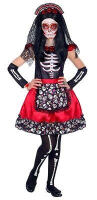 Dia de los Muertos Mädchen Kinderkostüm - Dia De Los Muertos Kostüm Mädchen