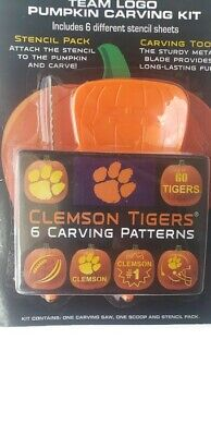 Pumpkin Carving Tool - NCAA Pumpkin Carving Kit With Tool & Stencil Pack Clemson Bama Longhorns & More