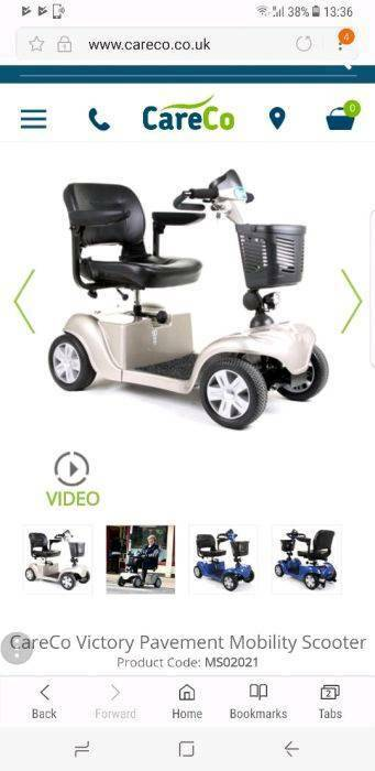 CareCo Victory mobility scooter