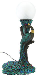 Art-Nouveau-Art-Deco-Peacock-Lamp-Ships-Immediatly