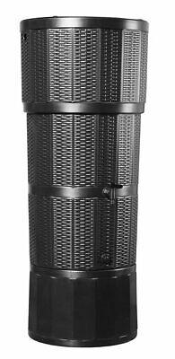 150L Rattan Wicker Effect Polybutt Water Butt - Black