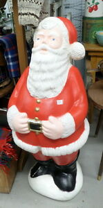 Vintage Light Up Blow Mold Santa Claus - BLUE JAR Antique Mall