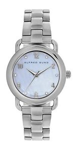 Alfred Sung Women's Mother of Pearl Dial Watch