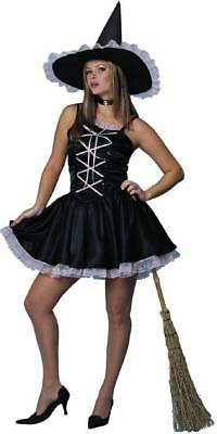 Sweet Witch Black Pink Dress Sexy Teen Adult Costume ()