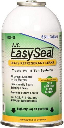 Nu-Calgon 4050-06 A/C EasySeal Refrigerant Leak Sealant Can 2.5 Oz