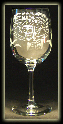 Day Of The Dead Catrina Calavera Skull Art Wine Glass - Day Of The Dead Wine Glasses