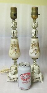 Pair Shabby & Chic French Provicial LAMP Base White Gold Metal S Peterborough Peterborough Area image 8