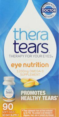 Thera Tears Eye Nutrition Omega-3 Supplement 1200 mg 90 Softgels (Pack of 10)
