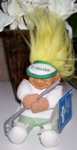 Troll Russ Golfer with Club and Visor