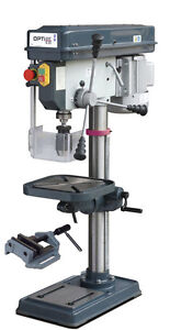 Optimum Tischbohrmaschine OPTIdrill B 20/400 V - Set mit Maschinenschraubstock