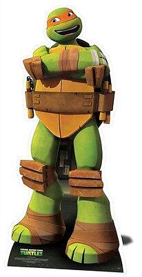Michelangelo from Teenage Mutant Ninja Turtles MINI Cardboard Cutout Stand Up (Teenage Halloween Party Decorations)
