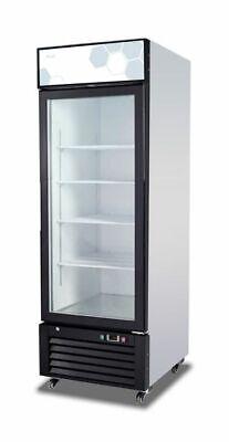 New Migali Single Glass Door Reach-in Freezer 28 C-23fm Free Shipping