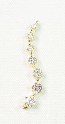 - Ladies 14k Yellow Gold 1/2 Ct Cttw Diamond Journey Estate Pendant