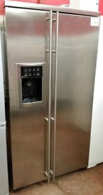 GE American style Fridge and Freezer Stainless steel House Clearance