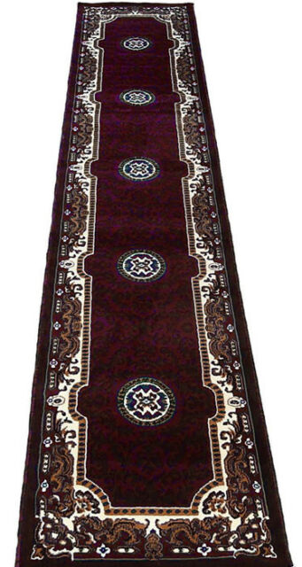 3x16 Runner Rug Persian Oriental Medallion Floral Size 2u00278