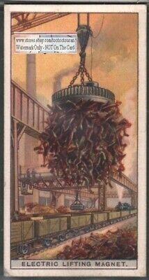 Electric Lifting Scrap Metal Magnet 90 Yo Trade Ad Card