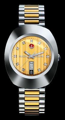 RADO DIASTAR MEN'S AUTOMATIC WATCH TWO TONE R12408633 -BRAND NEW. 100% AUTHENTIC