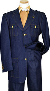Il Canto Blue Denim With Cognac Hand-Pick Stitching And Shoulder Epaulettes 8372