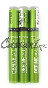 3 x MAYBELLINE DEFINE A LASH MASCARA BLACK