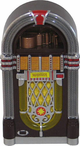 JUKEBOX MINIATURE COLLECTIBLE REPLICA WURLITZER 1015 LIGHTS AND PLAYS ONLY YOU