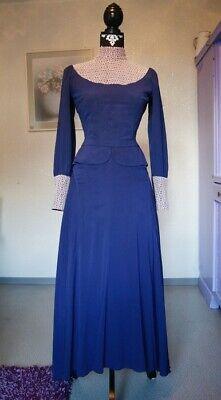 Vintage Kostüm-Kleid gr. 36 ( Lila 60er Viktorianisch 20er Retro Gothic (20 Vintage Kostüm)