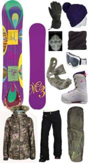 Ladies Snowboard Mega Deal. Get the lot $999 *NEW* Was $1599