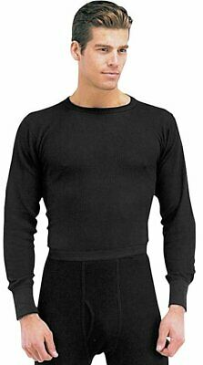 - Black Cold Weather Winter Thermals Knit Underwear Shirt Top Long Johns