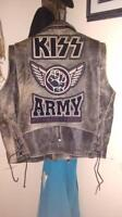 KISS ARMY Leather Vest