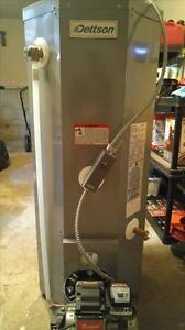 NEW/USED OIL-FIRED WATER HEATER WITH BURNER