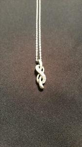 Diamond Knotted Pendant in Sterling Silver - PRICE NEGOTIABLE