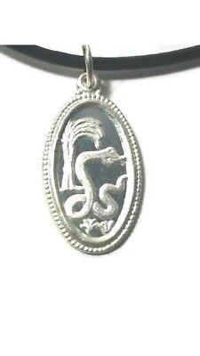 Chinese Zodiac Sterling Silver Snake Pendant 16 Inch Black Fashion Cord Chinese Snake Zodiac Pendant