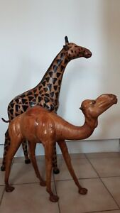 Decorative Leather Camel and Giraffe