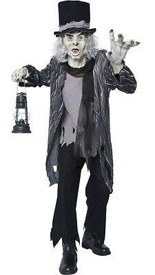 NEW Smiffys Scary Adult Demonic Gatekeeper Mens Male Halloween Costume sz M - Scary Male Costumes