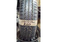 175-75-14c Hankook 99/98Q 8mm Part Worn Tyre