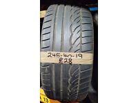 245-40-19 Dunlop Sp Sport 01 98Y 5mm Part Worn Tyre