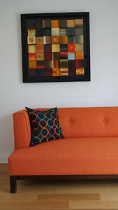 Couch and Artwork For Sale