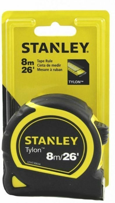 Stanley Tylon 8m / 26' Measuring Tape Feet Inches  Metric &