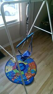 Jolly jumper on stand and door clamp  2in 1 set with music mat