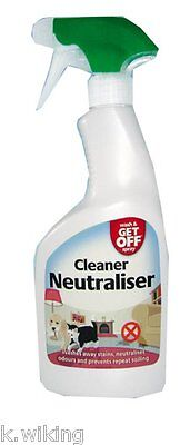 Wash & Get off Spray Cleaning Spray and Keep-Away Spray Dog Cats 16.9oz