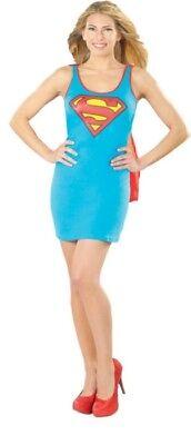Erwachsene Damen Sexy Tank-Kleid Supergirl Kostüm Damen (Damen Sexy Supergirl Kostüme)
