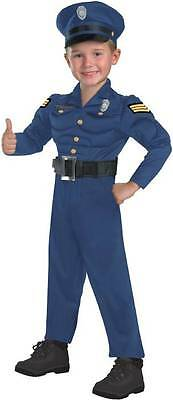 Officer Awesome Police Cop Muscle Jumpsuit Dress Up Halloween Child Costume](Awesome Baby Costumes)