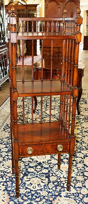 Maitland Smith Regency Style Mahogany Self Etagere