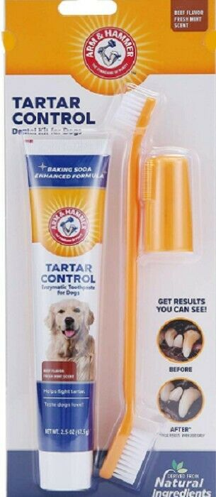 Dental Care Kits for Dogs Safe for Pets ,Healthy and Easy (Beef Flavor)