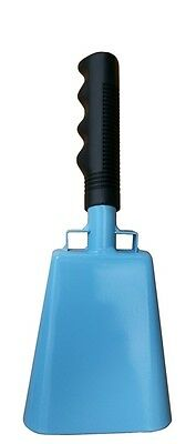 10-inch light blue cowbell with handle - quality noisemakers - CFC soccer](Soccer Noise Maker)