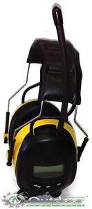 OPD Digital AM FM Radio Yellow Earmuffs Headphones use with MP3 IPOD