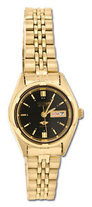 Citizen PD2862-51E Ladies Gold Tone Stainless Steel Automatic Watch (Black Dial)