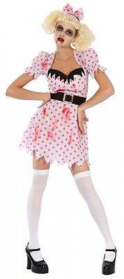 Cute Zombie Costume (SW Ladies Costume Fancy Dress Cute Sweet Zombie Scary Bloody Girl Sz 8 10 12 14)
