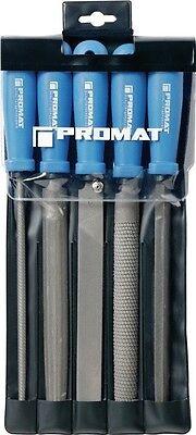 Bild von Feilen Satz Länge 200 oder 250mm Hieb 2 / 5 Formen in Kunststoff-Tasche PROMAT
