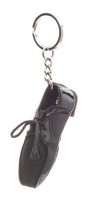 Mens Black Patent Topline Ballroom Dance Shoe Gift Keyring By Katz KR19