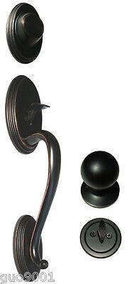 Oil Rubbed Bronze Front Door Dummy Handleset Round Knob Handle Knobs